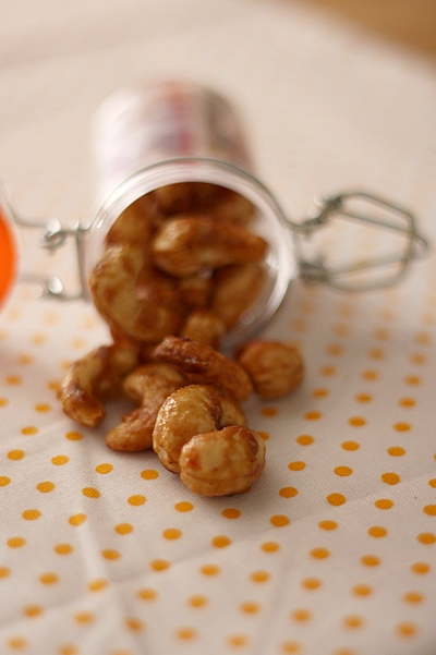 Noix de Cajou caramélisées aux épices