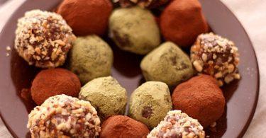Truffes au chocolat et épices