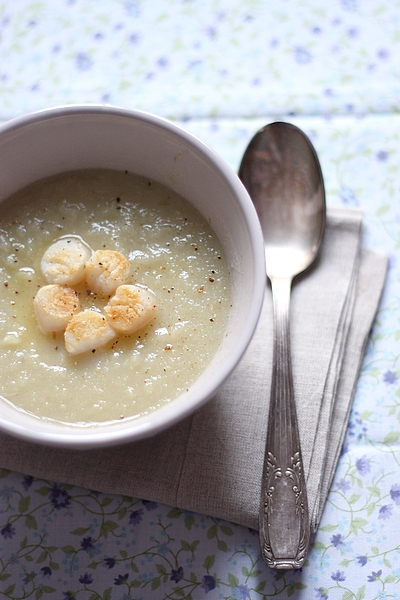 Soupe de fenouil et pétoncle
