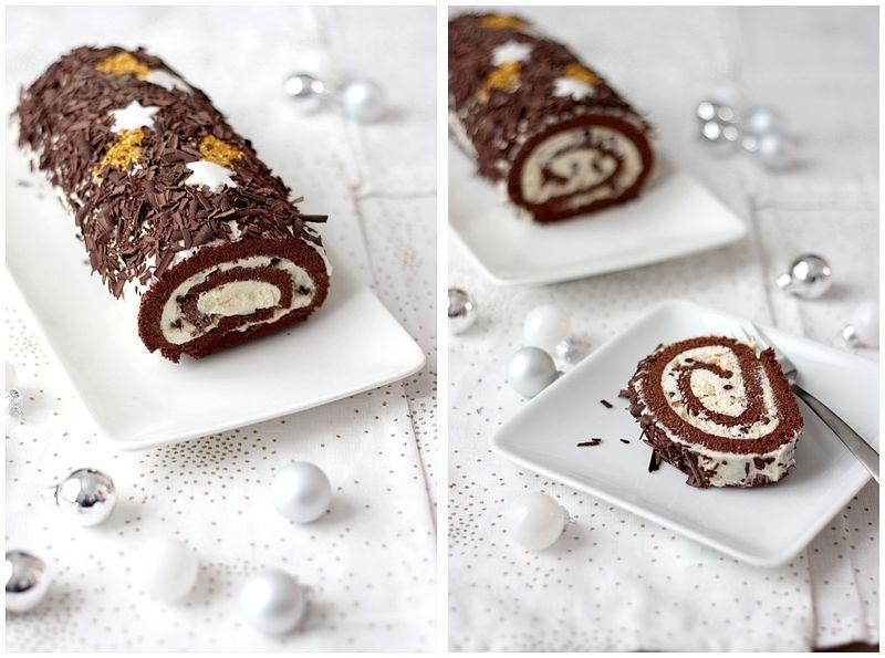 Buche de noel mascarpone chocolat blanc