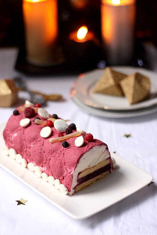 Buche fruits rouges et citron
