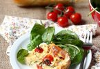 Clafoutis tomate et courgettes