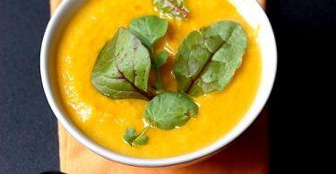 Soupe de courge et carotte