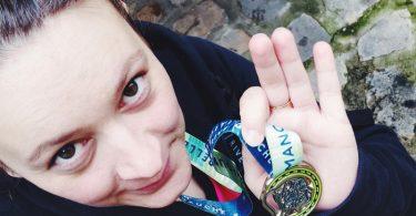Médaille 10 km pour elles