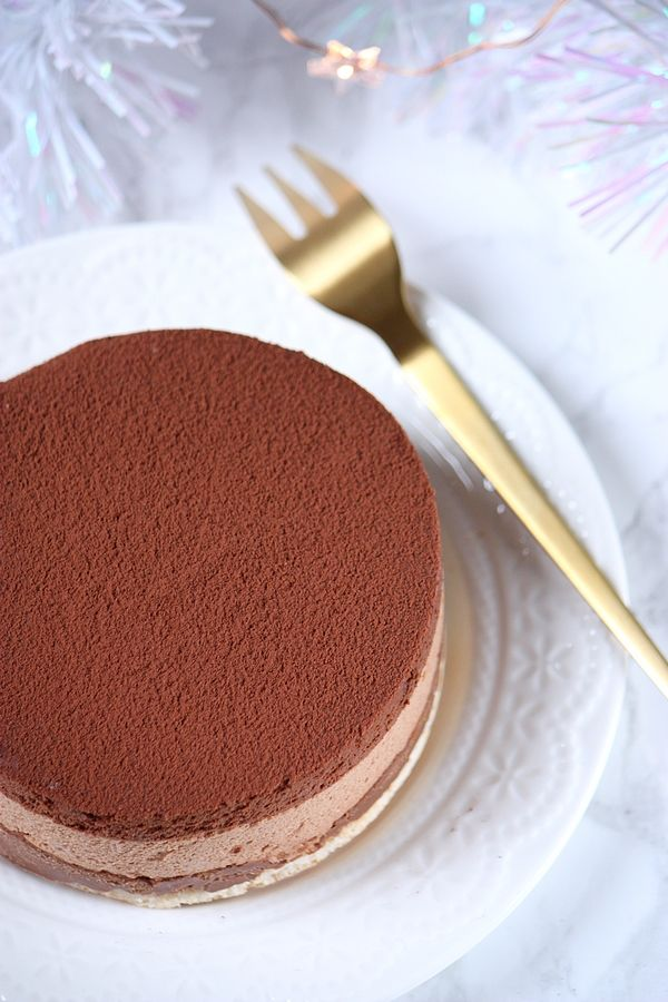 Entremets chocolat et amandes