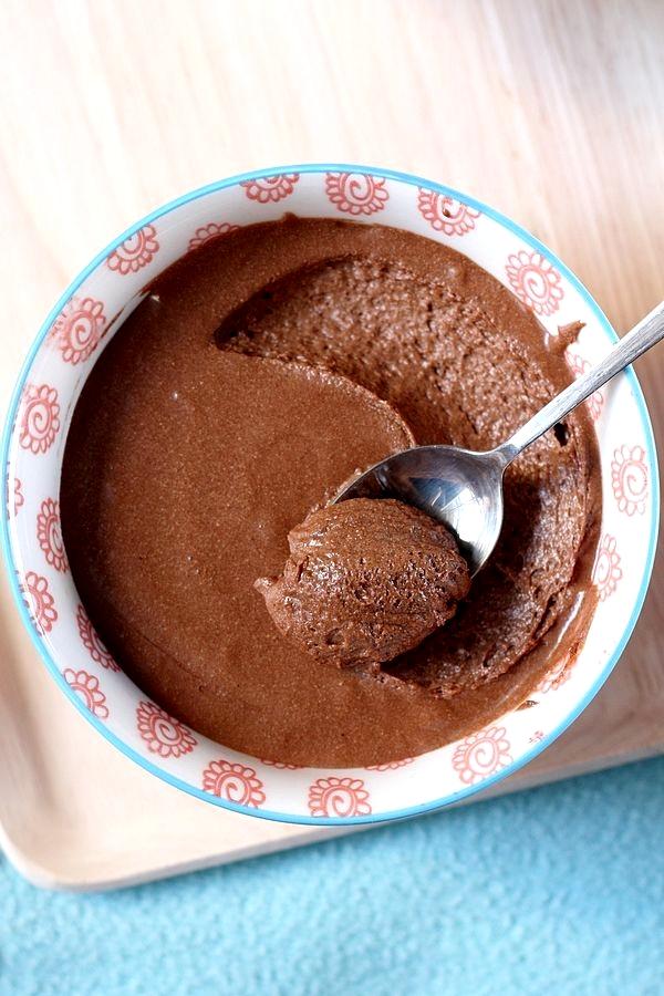 Mousse au chocolat noir intense