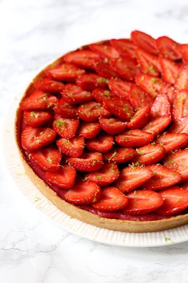 Curd de framboise et tarte aux fraises