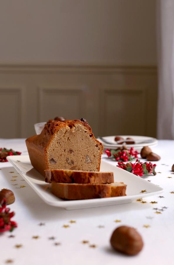 Dessert festif : le cake aux marrons glacés