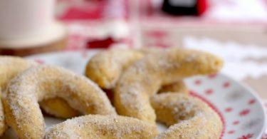 Recette de biscuits : croissants à la vanille