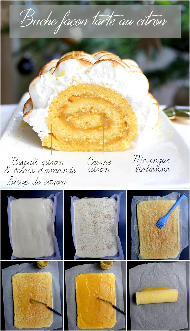 Recette de bûche façon tarte au citron meringuée