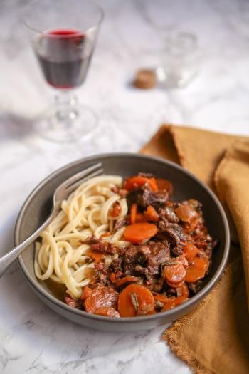 Joue de bœuf et carotte