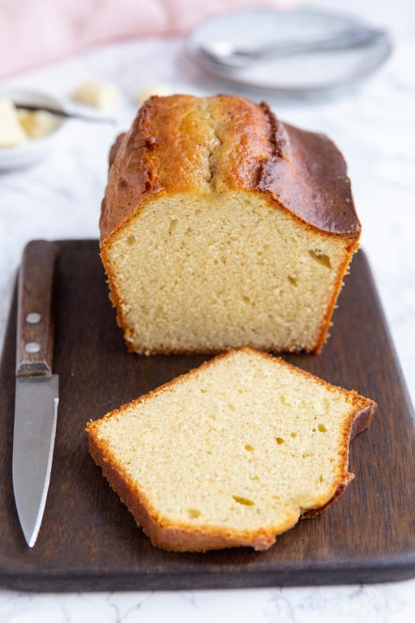 Cake à la vanille intense