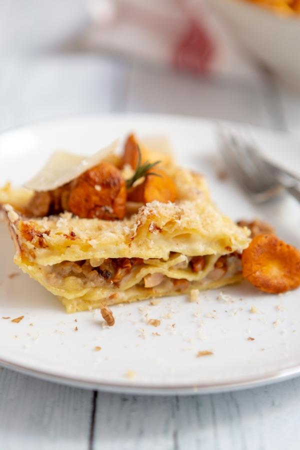 Recette de lasagnes aux champignons et parmesan