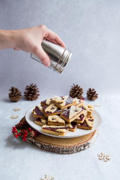 Tranches de Linz : Biscuits de Noël à la confiture