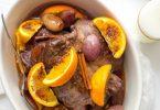 Rôti de chevreuil aux épices et orange