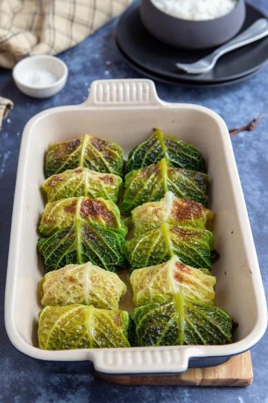 Chou farci au four recette facile gourmandiseries - Comment cuisiner un choux vert ...