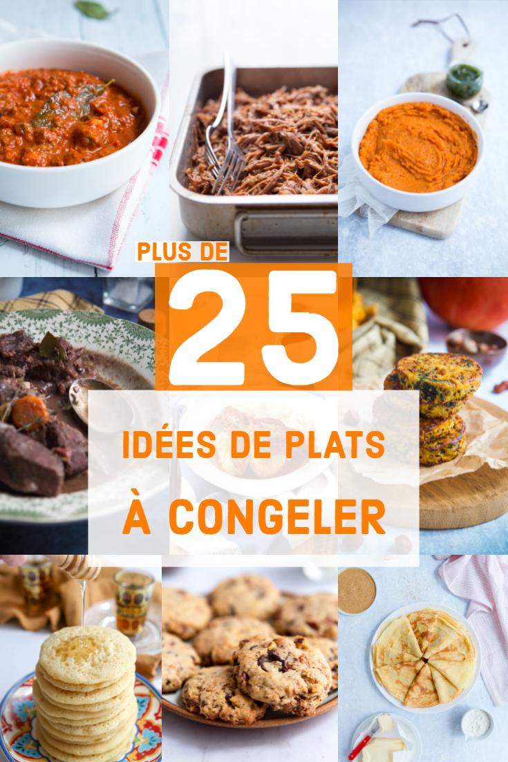Idées de plats à congeler