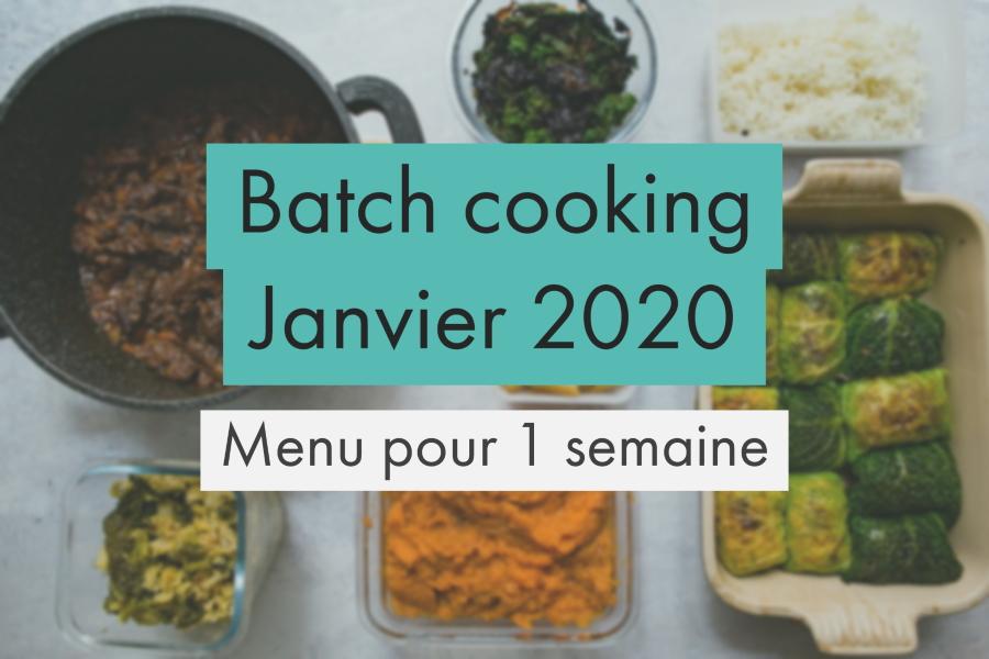 Batch Cooking pour Janvier