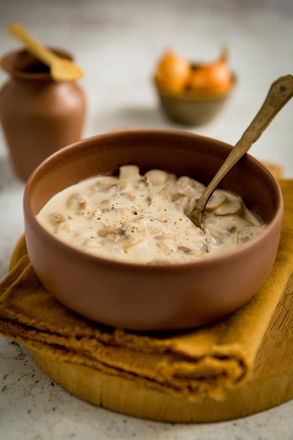 Recette de sauce aux champignons à la crème