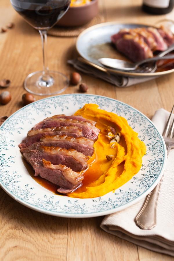 Magret de canard, sauce miel et vinaigre balsamique