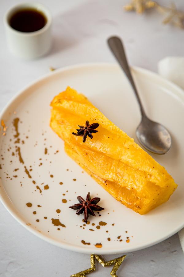 Dessert léger de fête : Ananas rôti