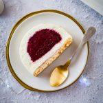 Buche cheesecake sans cuisson aux fruits rouges
