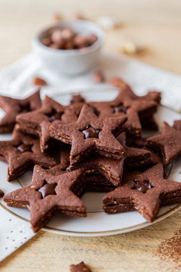 Biscuits de Noël double chocolat